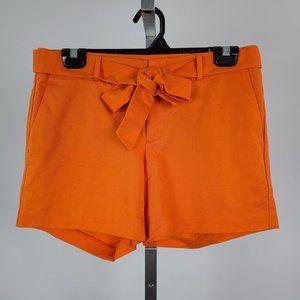 Banana Republic Orange Linen Shorts Size 4